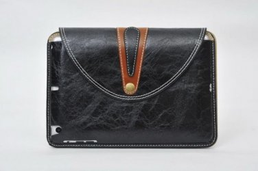 """New! 9.7"""" Black Leather Stand Case For Ipad 2 3 4 with Rotating Belt"""