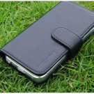 Magic Tail Magnetic Closure Black Leather Wallet Case For iphone 5
