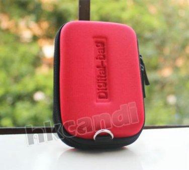 Red Universal Waterproof Portable Digital Camera Case