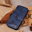 Golden Phoenix Blue Luxury Leather Case Stand for iPhone 5 5G