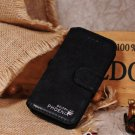 Golden Phoenix Black Luxury Leather Case Stand for iPhone 5 5G