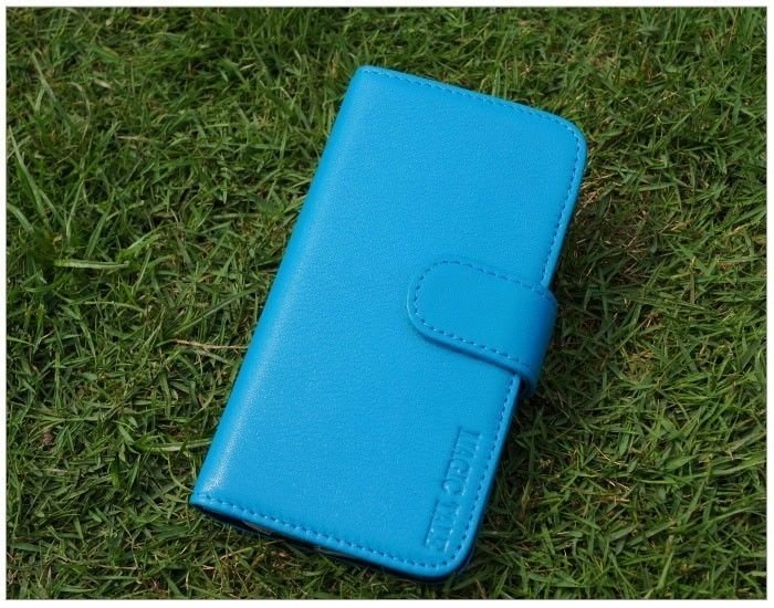 Iphone 5 Magic Tail High Quality Leather Sky Blue Wallet Case