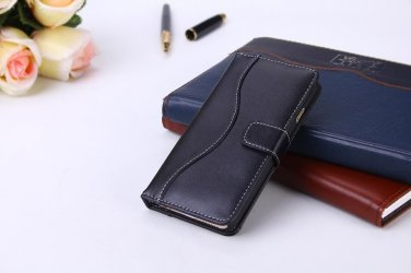 Black Soft Italian Leather Iphone 6 (4.7) Wallet Case