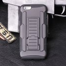 iphone 6 (4.7) Black Armor Swivel Belt Clip Holster Hybrid Hard Case Stand