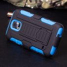 Samsung Galaxy 5 Blue Armor Swivel Belt Clip Holster Hard Case Stand