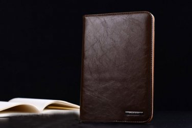Dark brown Leather Ultra Thin iPad 2 3 4 Case Cover