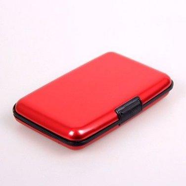 The Aluma Red Aluminum Card Wallet Organizer