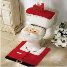 Santa Claus 3pc. Christmas Decorative Bathroom Toilet Set