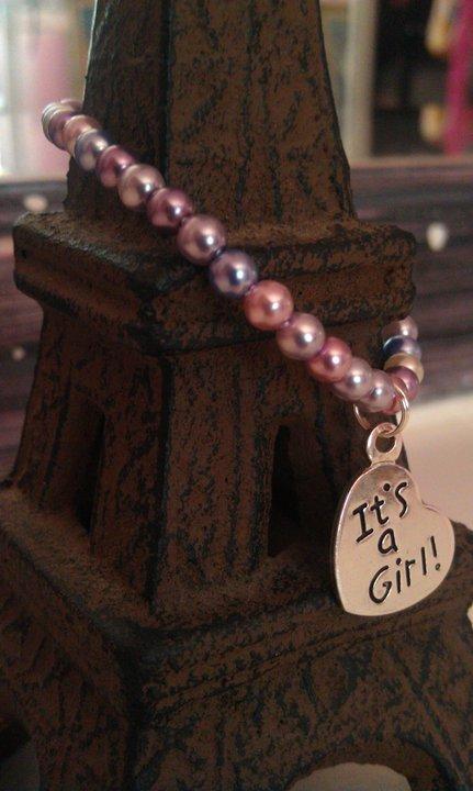 0-6 Months: Purple Haze Czech Glass and Charm Bracelet