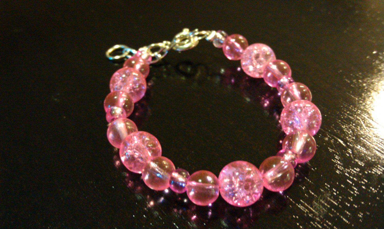 6-12 Months: Bright Pink Baby & Toddler Bracelet