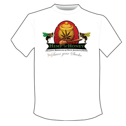 Large Mens Hemp 'n' Honey Tee shirt