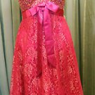 Party dress fuschia