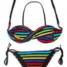 Twist Bandeau Top Bikini (Blue or Multi Color)