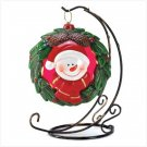 ~FREE SHIPPING~SNOWMAN WREATH TEALIGHT STAND