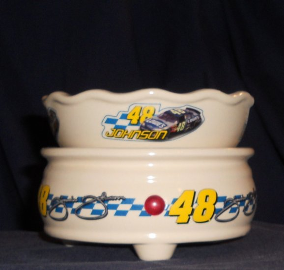 NASCAR JIMMY JOHNSON Candle Warmer with Tart Dish