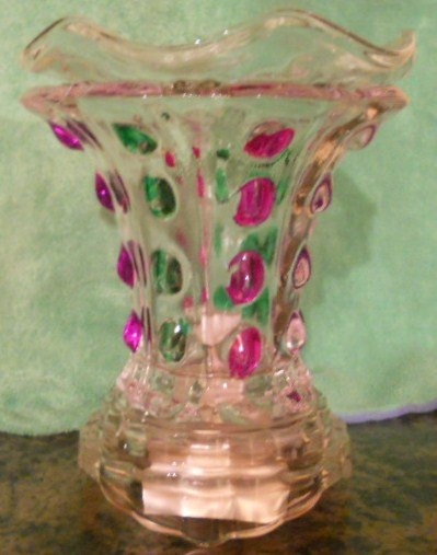 Crystal Colored Ginger Electric Oil Warmer