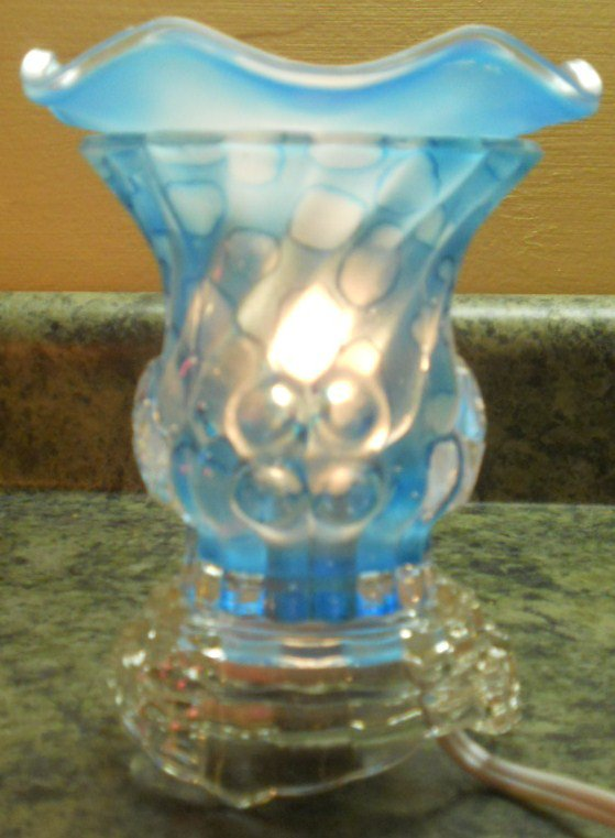 Electric Oil Warmer Blue Bubbles