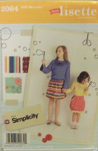 #2064 SIMPLICITY LIL LISETTE CHILD'S SKIRT HH PATTERN