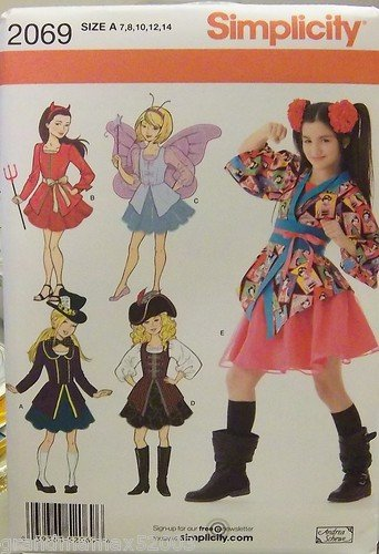 #2069 SIMPLICITY COSTUMES FOR GIRLS' SIZE A PATTERN