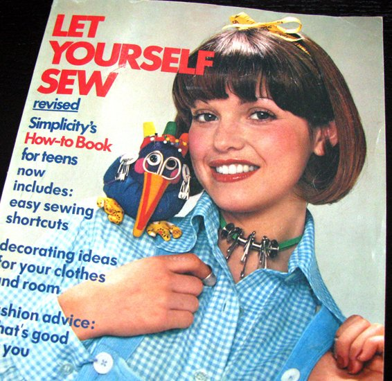 70s Let Yourself Sew Simplicity Vintage Sewing Book