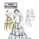Vogue 4093 Vintage 1940s Wedding Dress Pattern Special Design Bridesmaid Dress Bust 30