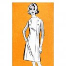 60s Slim Dress Vintage Sewing Pattern Anne Adams 4884 Button Trim Bust 36