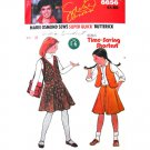 Girls Flared Skirt & Vest Vintage Sewing Pattern Butterick 6656 UNCUT Size 10 12 14