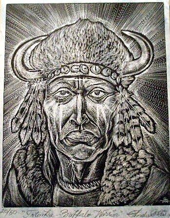 Totonka, Apache Warrior original print