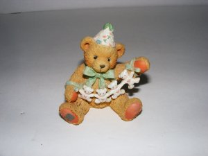 "1992 P. HILLMAN COPY RIGHT -AGE 4 -""UNFOLDING HAPPY WISHES FOR YOU"" BEAR"