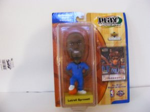 LATRELL SPREWELL-BOBBLE HEAD-PLAY MAKERS EDITION-UPPER DECK COLLECTIBLE