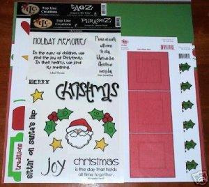 TLC Scrapbooking Kit - CHRISTMAS Theme