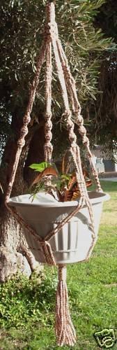 Macrame Plant Hanger 40in vintage 6 mm **AllSpice