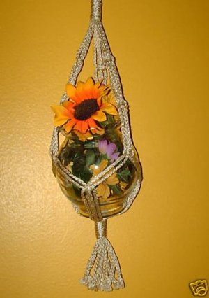 Macrame Plant Hanger 20in FRIENDSHIP - PEARL