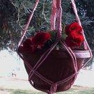 Macrame Plant Hanger 30in Vintage **PINK**