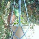 Macrame Plant Hanger 36 in Vintage **SKYBLUE**