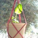 Macrame Plant Hanger 30in Vintage **Cranberry**