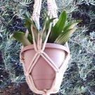 Macrame Plant Hanger 24in Vintage **PEARL**