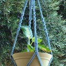 Macrame Plant Hanger 40in vintage 4mm **Sky Blue**