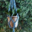 Macrame Plant Hanger 24in Vintage **Sky Blue**