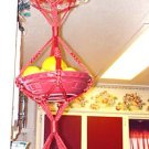 MACRAME plant Hanger 42in 3-Tier Vintage Vege Basket
