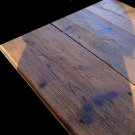 Antique wooden plank floors