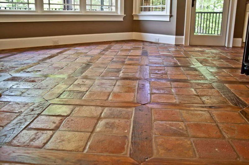 ANTIQUE SPANISH TERRACOTTA FLOOR TILES