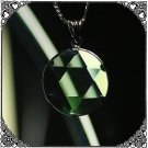 0152 GREEN OBSIDIAN Pendent Star of David Amulet 15mm