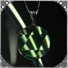 0150 GREEN OBSIDIAN Pendent Star of David Amulet 20mm
