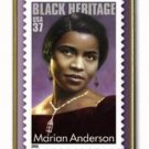 Marian Anderson stamp pin lapel hat Black History 3896