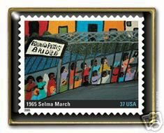 Selma Perfect Union Stamp pin Black History 3937i