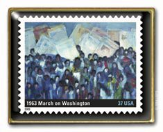 Black History March on Washington Stamp pin lapel pin  3937h S
