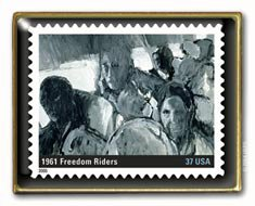 Freedom Riders Stamp pin Black History lapel pins hat 3937f