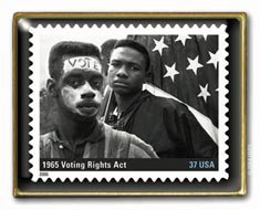Black History Voting Rights Act  Stamp pin lapel pins 3937b S
