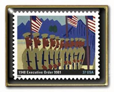 Executive Order 9981 Integration Black History Stamp pin 3937a